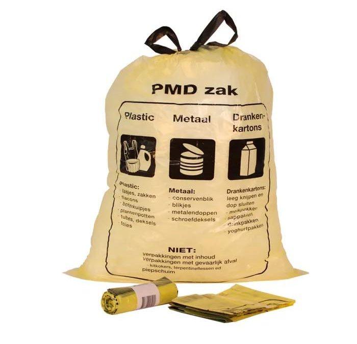 Afhalen PMD zakken bij De Meent nu woensdagavond tussen 18.00 en 19.00 uur